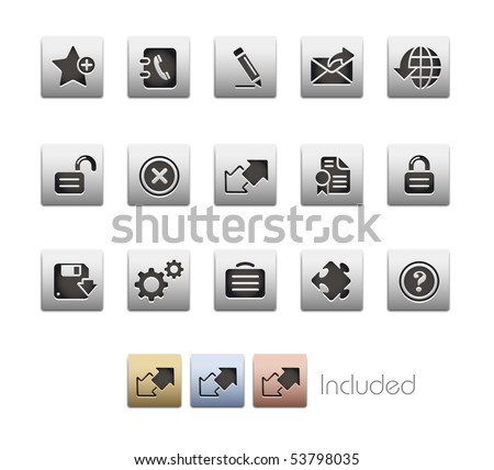 Web Site & Internet Plus // Metallic Series - It includes 4 color versions for each icon in a different layer. - stock vector