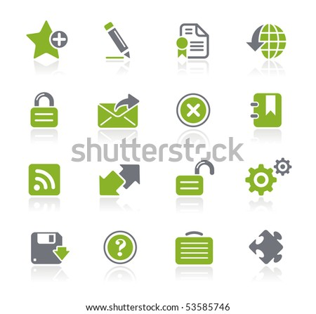 Web Site & Internet Plus // Natura Series - stock vector