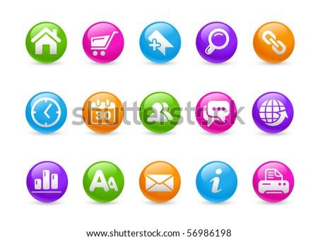Web Site & Internet // Rainbow Series - stock vector