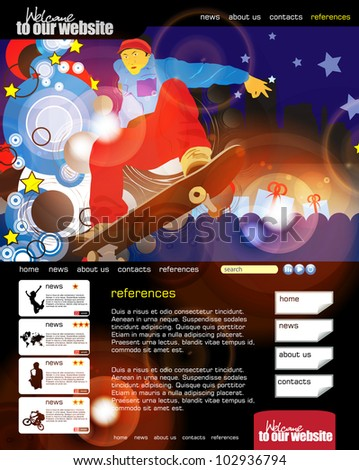 Web site layout - stock vector