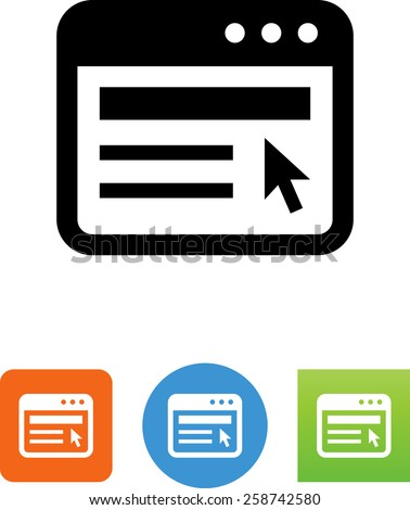 Web site symbol for download. Vector icons for video, mobile apps, Web sites and print projects.  - stock vector