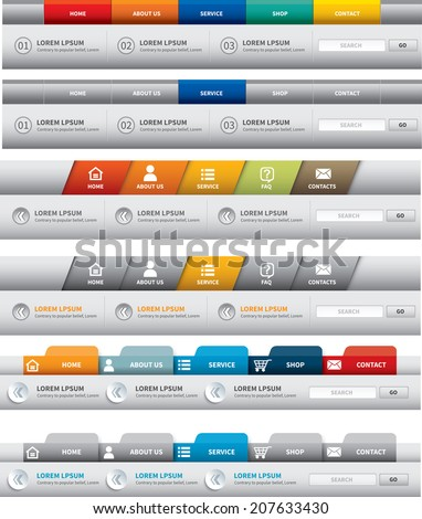 Menu bar stock images royalty free images vectors for Html menu bar templates free download