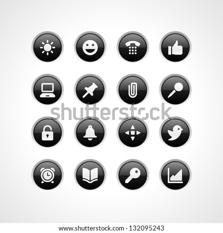 Web site vector buttons and icons set