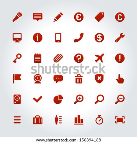 Web site vector icons set. Social media or infographic design elements.