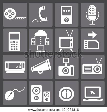 Web social icons,vector - stock vector