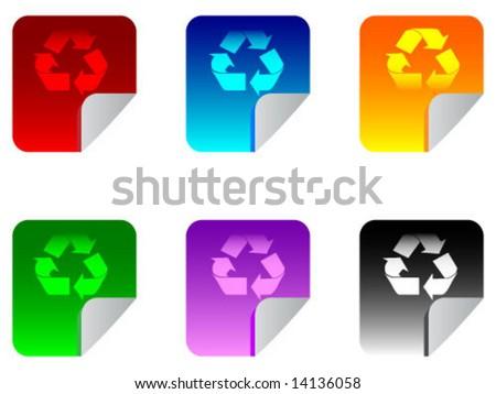 web stickers illustration - stock vector