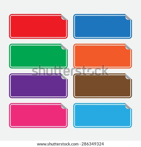 Web stickers, tags and banners. Set of colourful stikers.