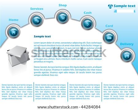 Web Template 13 - stock vector