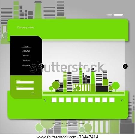 web template - stock vector