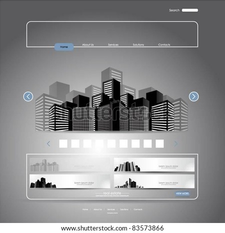 web template-vector - stock vector