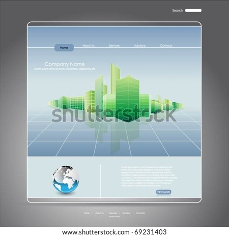web template-vector design - stock vector