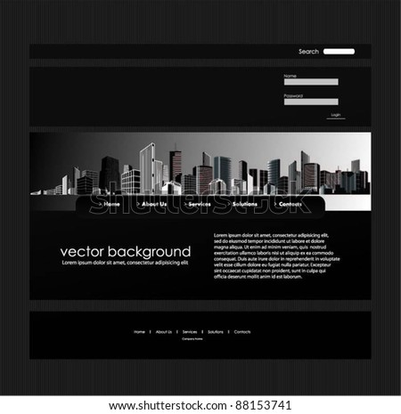 web template-vector design - stock vector