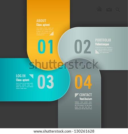 Web template. Vector illustration. - stock vector