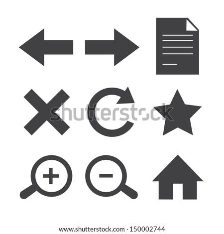 Web toolbar icons.Vector EPS10 - stock vector