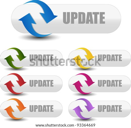 web update or refresh buttons - stock vector