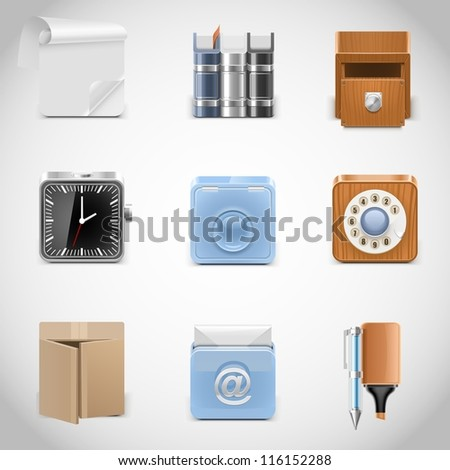 web vector icons - stock vector