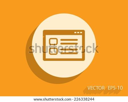 Web window icon, vector illustration - stock vector