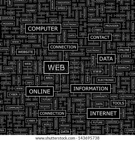 WEB. Word cloud concept illustration.  - stock vector