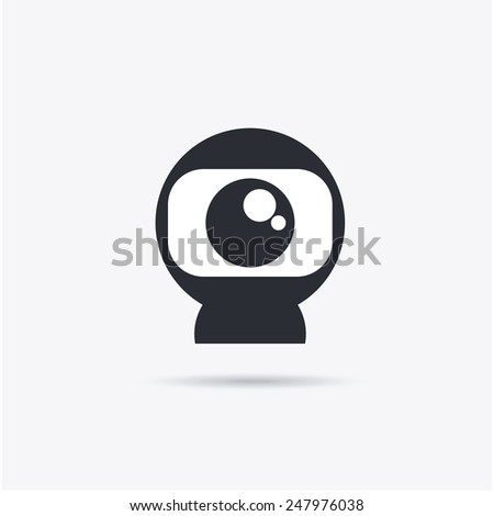 webcam icon design, vector illustration eps10 graphic