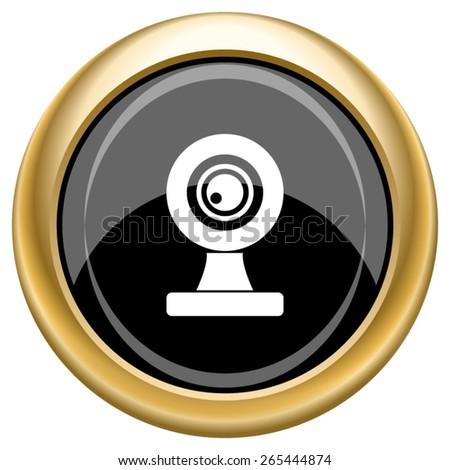 Webcam icon. Internet button on white  background. EPS10 Vector.  - stock vector