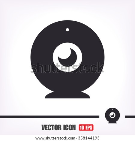 webcam  icon . Vector  Eps 10