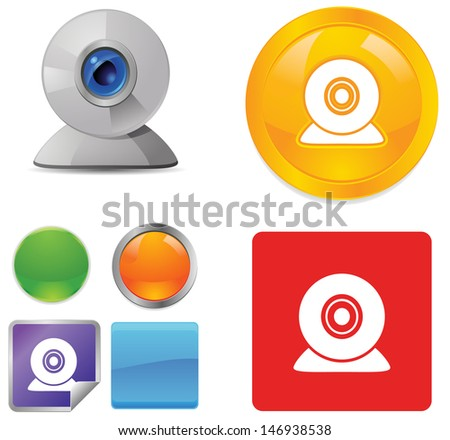 Webcam icons - stock vector