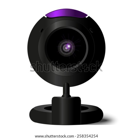 Webcam in vector, black web-camers in eps