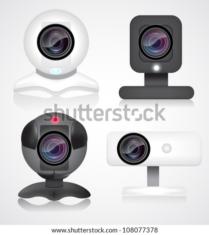 Webcam set eps10 - stock vector