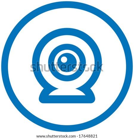 Webcam vector icon - stock vector