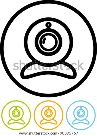 Webcam - Vector icon isolated on white - stock vector