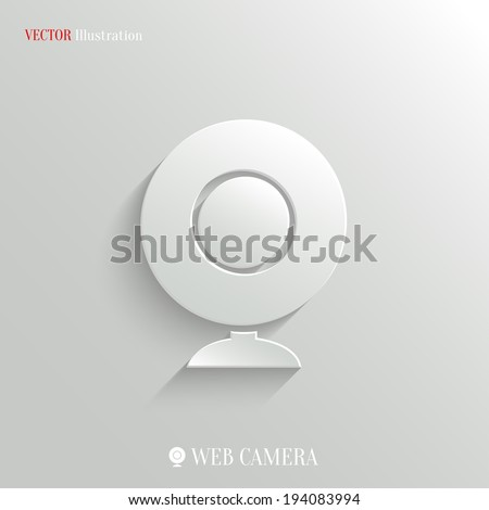 Webcamera icon - vector web illustration, easy paste to any background - stock vector