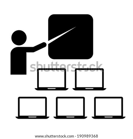 Webinar icon - stock vector