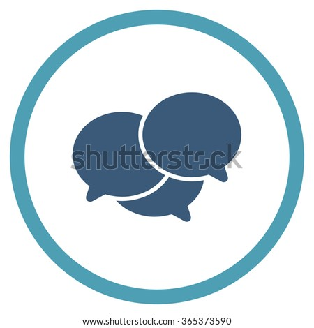 Webinar vector icon. Style is bicolor flat circled symbol, cyan and blue colors, rounded angles, white background. - stock vector