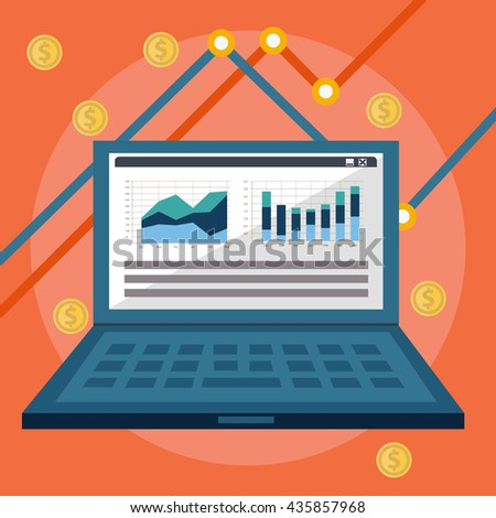 Website analytics and SEO data analysis concept. - stock vector