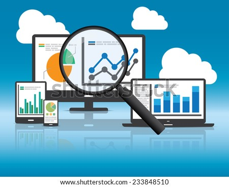 Website analytics and SEO data analysis concept. EPS10 file and included high resolution jpg - stock vector