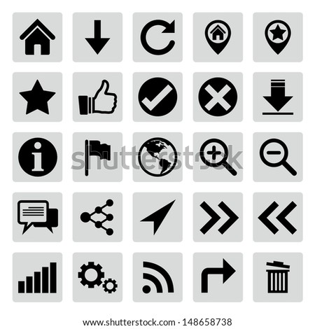 Website and internet icon set - stock vector