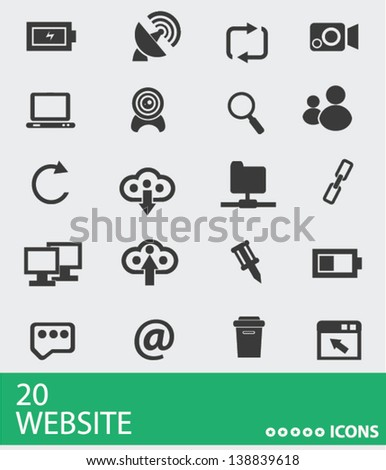 Website and social network icons,vector