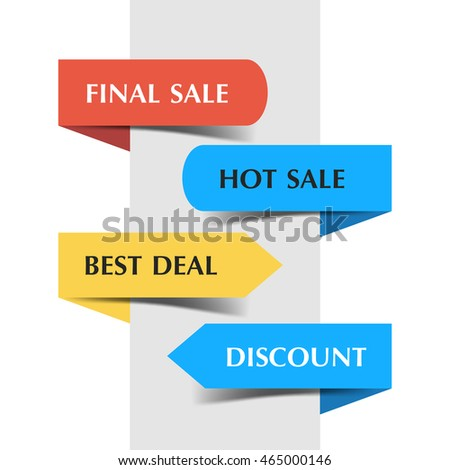 Website banner collection sticker collection sale banners label set label vector design