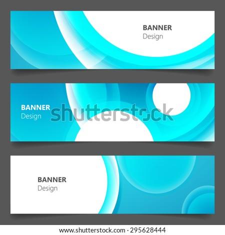 Website banner or header set. EPS 10. - stock vector
