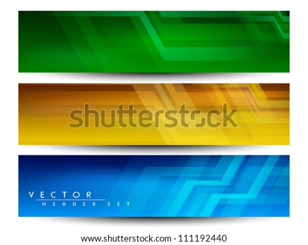 Website banner or header with colorful abstract design. EPS 10. - stock vector