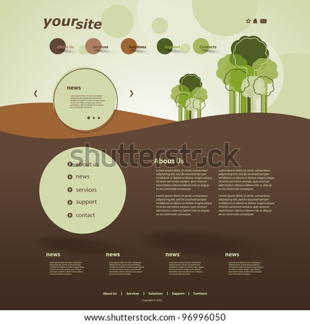 Website Design - stock vector