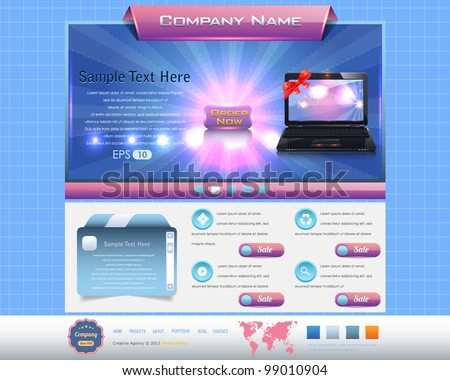 Website design Business Style vector elements - stock vector