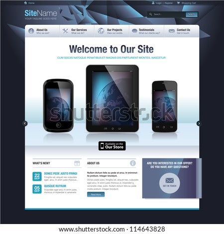 Website design template - stock vector