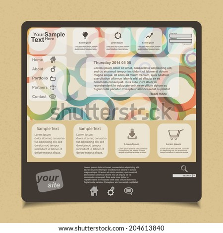 Website design, vector  - stock vector