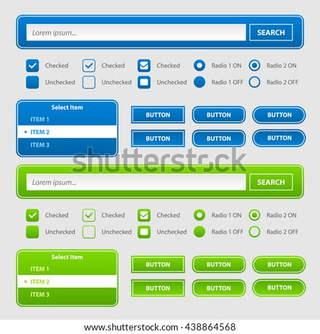 Website form interface elements.