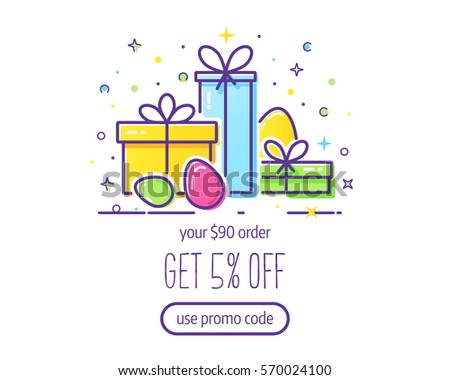 Website header vector template gift boxes stock vector 570024100 website header vector template with gift boxes and easter eggs easy to use business template negle Gallery