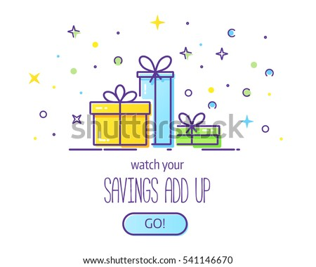 Website Header Vector Template Gift Boxes Stock Vector (2018 ...