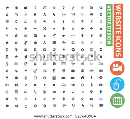 Website icon set,clean vector