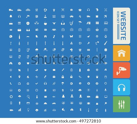 Website icon set,vector