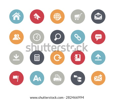 Website Icons // Classics Series - stock vector